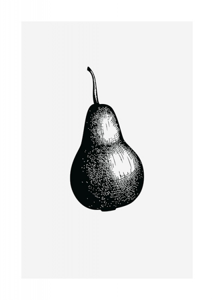 Pear Sketch Poster in the group Prints / Black & white at Desenio AB (13269)