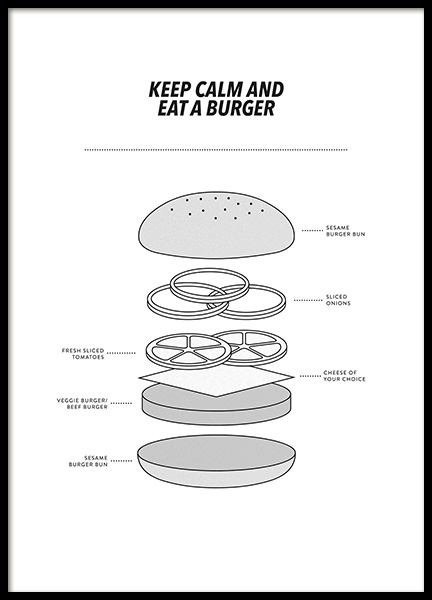 Eat a Burger Poster in the group Prints / Kitchen at Desenio AB (13273)