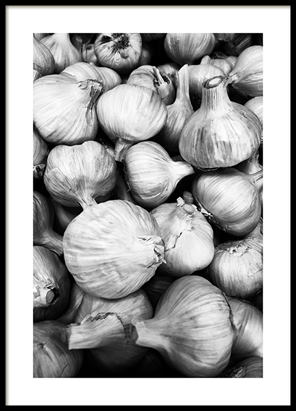 Garlics Poster in the group Prints / Black & white at Desenio AB (13275)