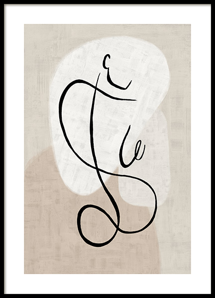 Abstract Line Art No1 Poster in the group Prints / Art prints at Desenio AB (13278)