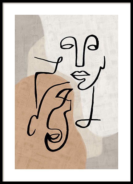Abstract Line Art No3 Poster in the group Prints / Art prints at Desenio AB (13280)