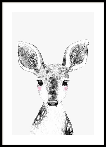 Tiny Deer Poster in the group Prints / Kids at Desenio AB (13309)