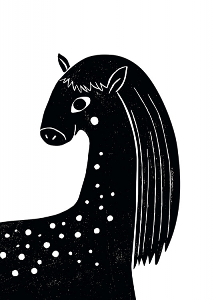 Graphic Horse Poster in the group Prints / Kids posters at Desenio AB (13312)