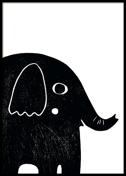 Graphic Elephant Poster in the group Prints / Kids wall art at Desenio AB (13313)
