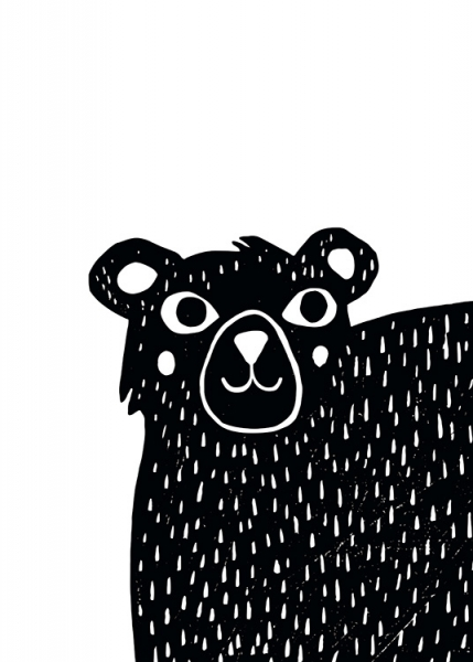 Graphic Bear Poster in the group Prints / Kids at Desenio AB (13314)