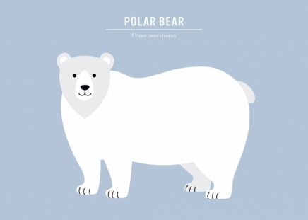 Polar Bear Poster in the group Prints / Kids posters at Desenio AB (13319)