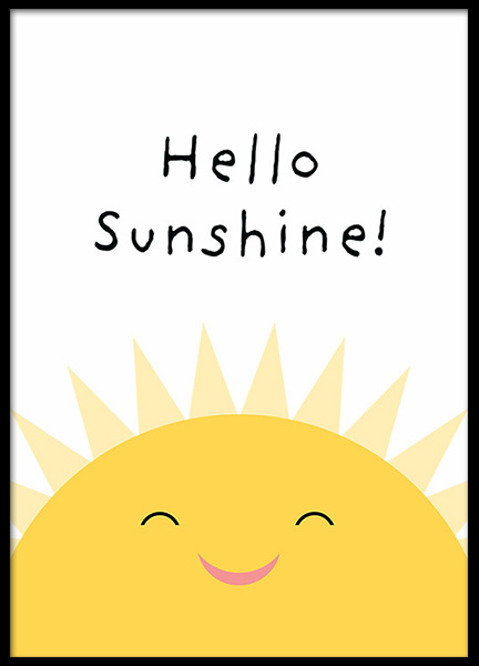 Hello Sunshine Poster in the group Prints / Kids at Desenio AB (13324)