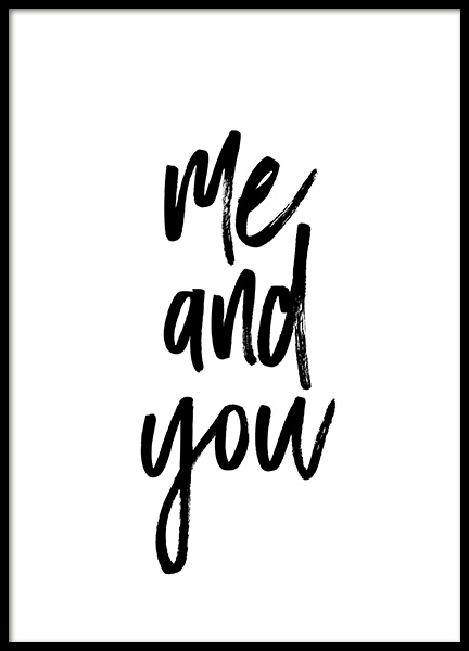 Me and You No1 Poster in the group Prints / Text posters at Desenio AB (13334)