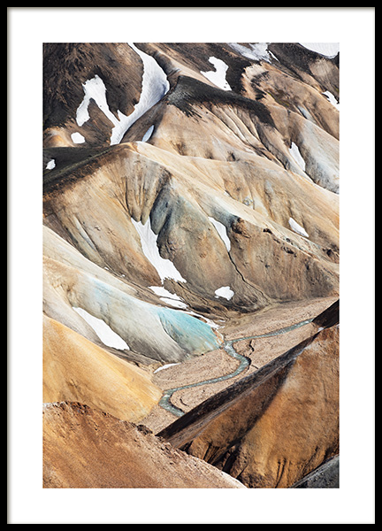 Landmannalaugar Poster in the group Prints / Nature prints at Desenio AB (13365)
