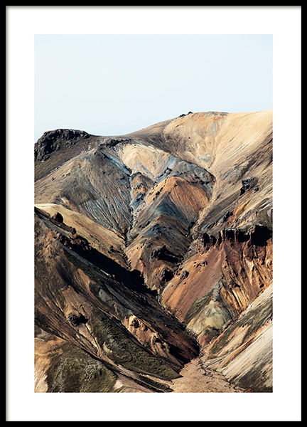 Mountain Colors Poster in the group Prints / Nature prints at Desenio AB (13366)