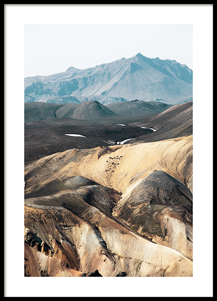 Mountain Structure Poster in the group Prints / Nature at Desenio AB (13371)