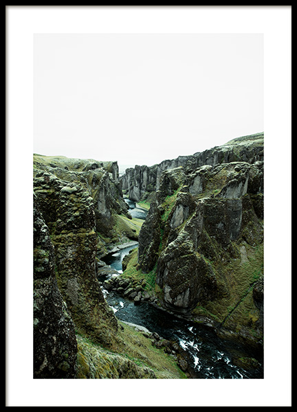 Cliff River Poster in the group Prints / Nature at Desenio AB (13380)