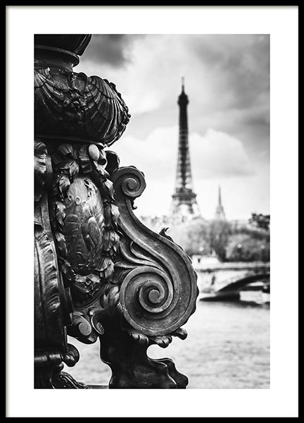 Eiffel View Poster in the group Prints / Maps & cities / European cities / Paris prints at Desenio AB (13392)