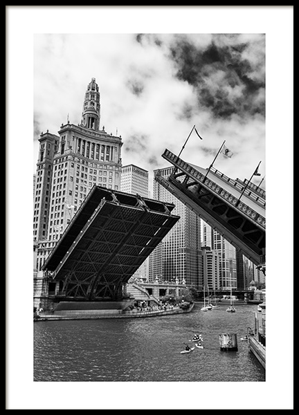 Chicago Bridge Poster in the group Prints / Maps & cities / World Cities at Desenio AB (13395)