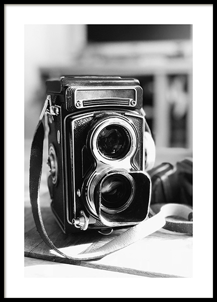 Old Style Camera Poster in the group Prints / Photographs / Black & white photography at Desenio AB (13400)