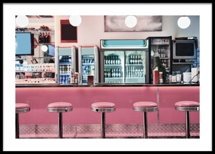 Retro Diner Poster in the group Prints / Retro & vintage at Desenio AB (13403)