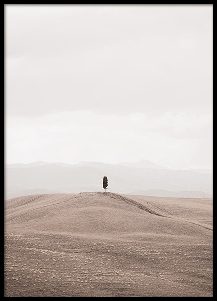 Lonely in Tuscany Poster in the group Prints / Nature / Landscapes at Desenio AB (13426)