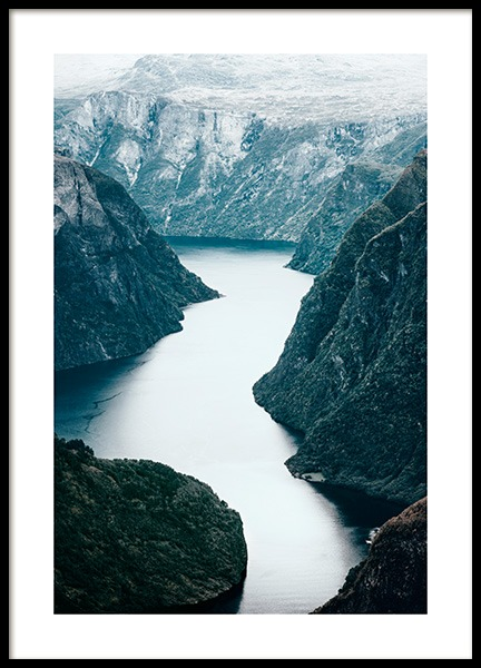 Scandinavian Wild Nature Poster in the group Prints / Nature prints / Seas & oceans at Desenio AB (13434)