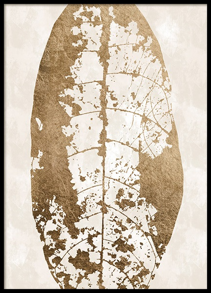 Golden Leaf Skeleton Poster in the group Prints / Graphical at Desenio AB (13441)