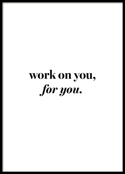 Work on You Poster in the group Prints / Text posters / Motivational at Desenio AB (13466)