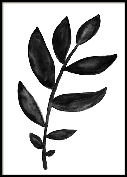 Watercolor Branch Poster