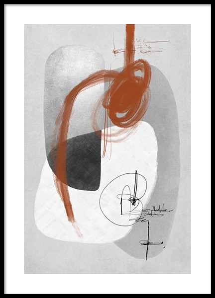 Amber Infused Abstract No2 Poster in the group Prints / Art prints / Abstract art at Desenio AB (13482)