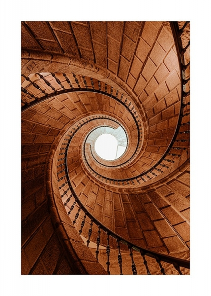 Spiral Stairs Poster in the group Prints / Photographs / Architecture at Desenio AB (13494)