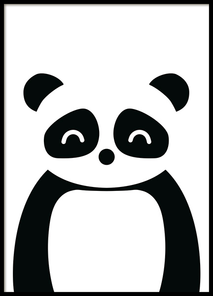 Geometric Panda Poster in the group Prints / Kids wall art / Animal illustrations at Desenio AB (13508)