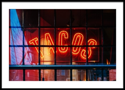 Neon Tacos Sign Poster in the group Prints / Photographs at Desenio AB (13538)
