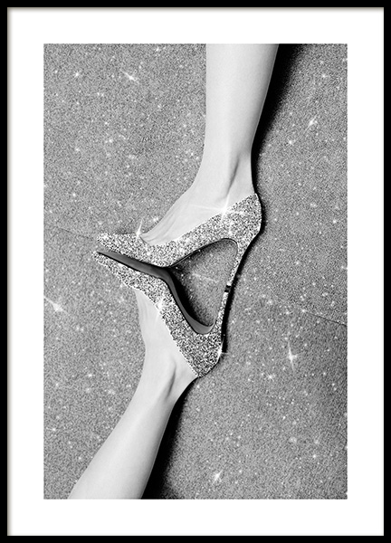 Glitter Shoes Poster in the group Prints / Fashion at Desenio AB (13568)