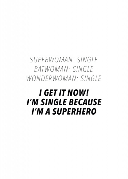 I'm a Superhero Poster in the group Prints / Text posters / Humour at Desenio AB (13598)