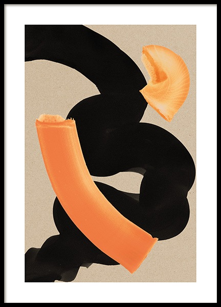 Curvy Strokes Poster in the group Prints / Art prints / Paintings at Desenio AB (13619)
