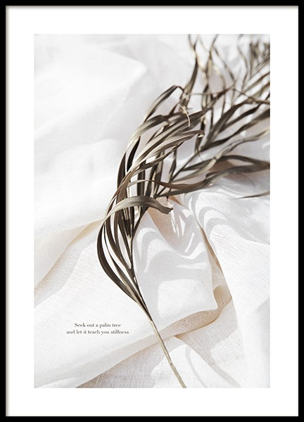 Delicate Palm Leaves No2 Poster in the group Prints / Botanical / Palms at Desenio AB (13650)