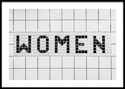 Women Tiles Poster in the group Prints / Photographs / Black & white photography at Desenio AB (13656)