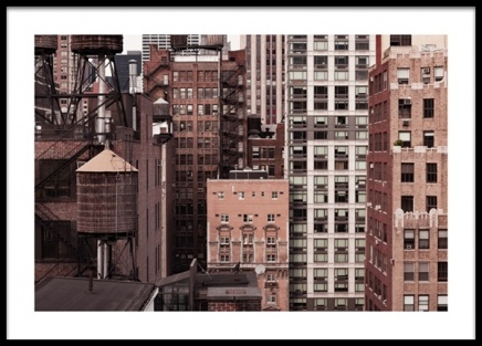 New York Facades Poster in the group Prints / Maps & cities / World Cities / New York wall art at Desenio AB (13659)