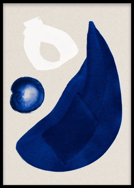 Cobalt Shapes No1 Poster in the group Prints / Art prints / Abstract art prints at Desenio AB (13661)