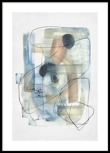 Abstract Calm No1 Poster in the group Prints / Art prints / Abstract art at Desenio AB (13673)