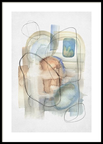 Abstract Calm No2 Poster in the group Prints / Art prints / Abstract art prints at Desenio AB (13674)