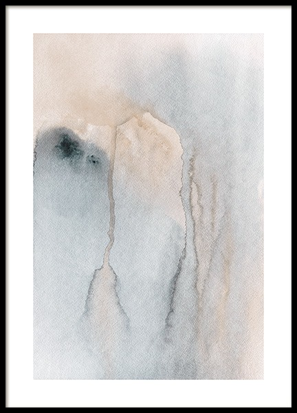 Flowing Watercolor Poster in the group Prints / Art prints / Abstract art prints at Desenio AB (13677)