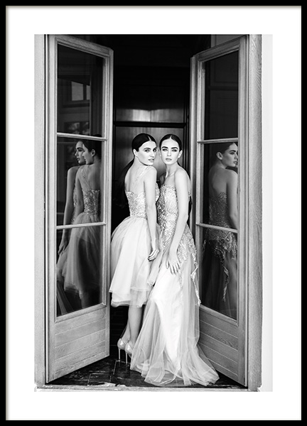 Wearing Dresses Poster in the group Prints / Photographs / Black & white photography at Desenio AB (13709)