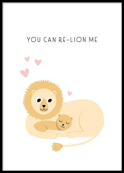 Re-lion me Poster in the group Prints / Kids / Animal illustrations at Desenio AB (13714)
