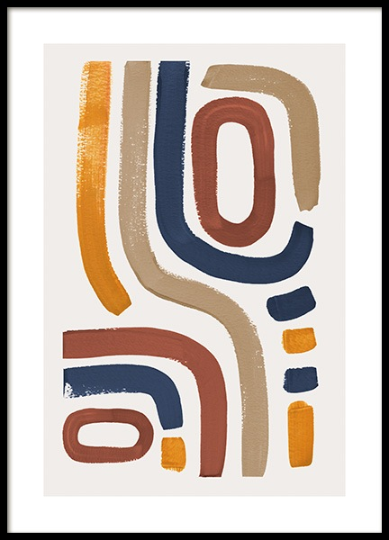 Abstract Rainbow Poster in the group Prints / Illustrations at Desenio AB (13724)