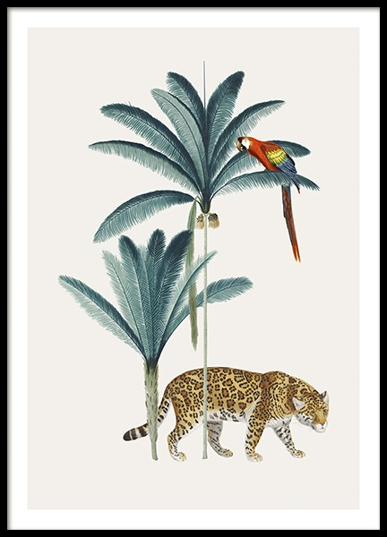 Royal Botanical Leopard Poster in the group Prints / Animals / Wild animals at Desenio AB (13735)