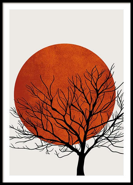 Winter Sunset Poster in the group Prints / Nature at Desenio AB (13752)