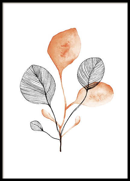 Autumn Leaf No1 Poster in the group Prints / Botanical / Green plants at Desenio AB (13759)