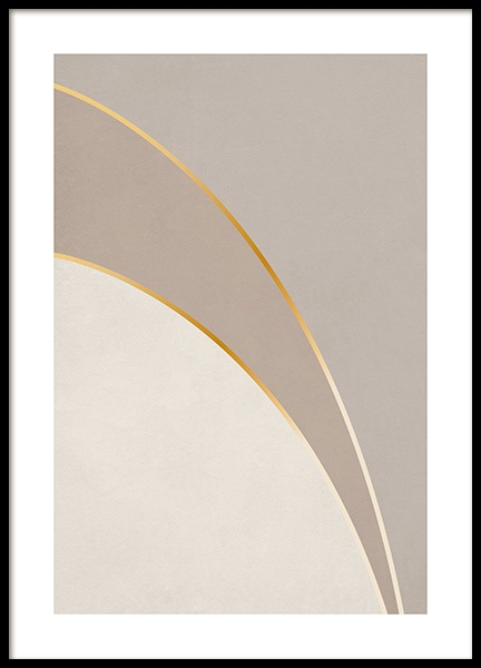 Graphic Golden Curves Poster in the group Prints / Graphical at Desenio AB (13762)
