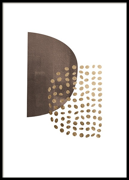 Golden Dots Poster in the group Prints / Art prints / Abstract art at Desenio AB (13767)
