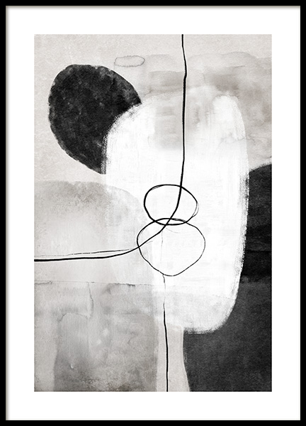 Painted Shapes No1 Poster in the group Prints / Art prints / Abstract art prints at Desenio AB (13809)