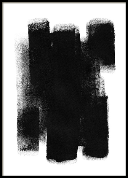 Paint it Black No1 Poster in the group Prints / Art prints / Abstract art prints at Desenio AB (13815)