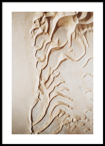 Curvy Desert Dunes Poster in the group Prints / Nature prints / Deserts at Desenio AB (13833)